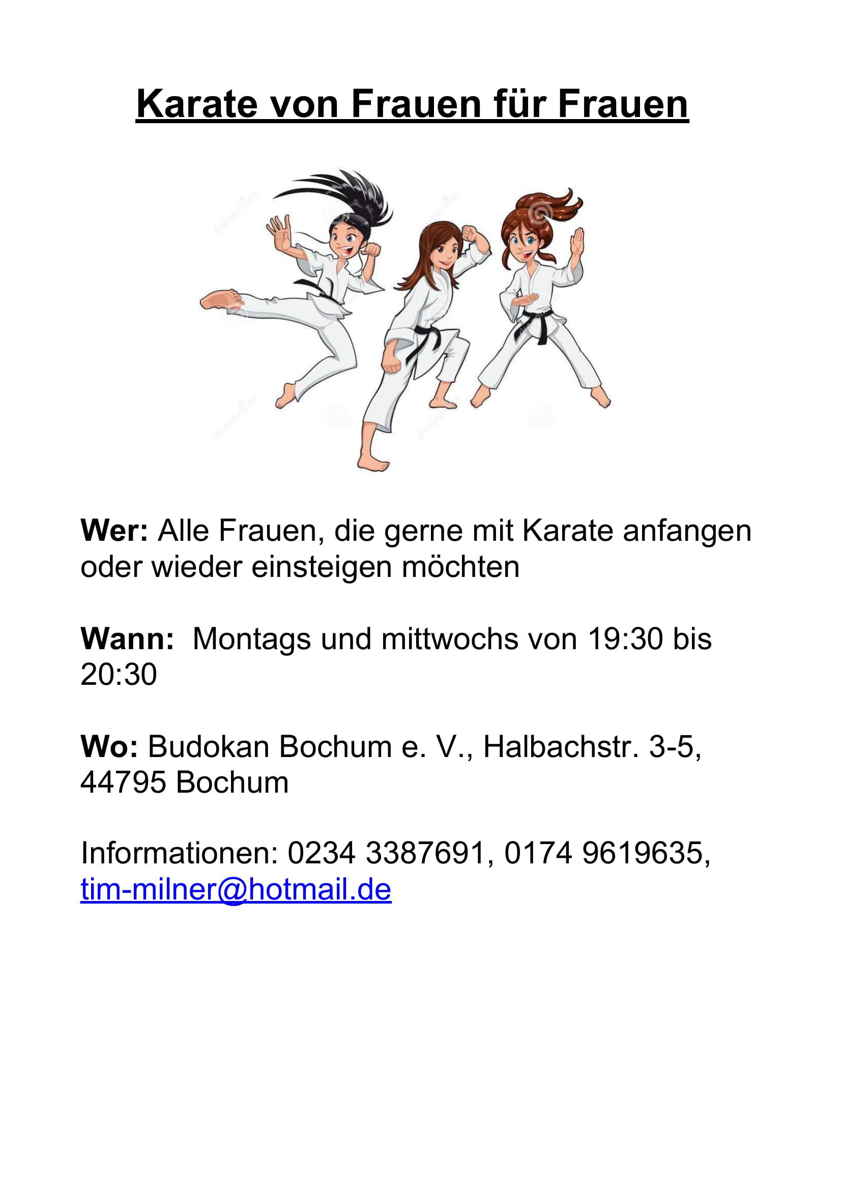 Karate von Frauen für Frauen